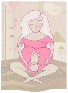 Mujer dando a luz